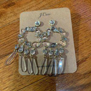 💝FINAL NWT JCrew CrystalResin Chandelier Earrings